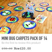 Mini Bug Carpets Pack of 14.