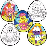 Baker Ross Easter Colour-in Window Decorations (Pack of 12)