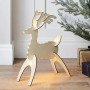 52cm DIY LED Wooden Reindeer