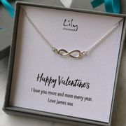 Personalised Silver Infinity Necklace - Only £9.95!