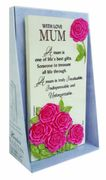 With Love Mum Timeless Words Plaque