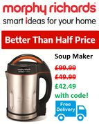 Morphy Richards SOUP MAKER - Better than 1/2 Price & FREE DELIVERY