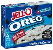 Jell-O Instant Pudding Oreo Cookies & Cream