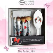 Disney Minnie Mouse Set Makeup Bag for Women and Teen Girls Gifts for Her