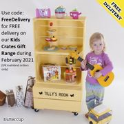 Free Delivery on All Personalised Wooden Crates & Personalised Toy Box for Kids