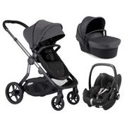 iCandy Orange Pushchair Charcoal and Maxi Cosi Pebble Pro Car Seat