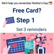 Get a FREE Mothers Day Card! Simply Set 3 Reminders