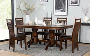 Chatsworth Dark Wood Extending Dining Table with 6 Java Chairs