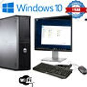 FULL DELL/HP DUALCORE /I3 /I5 DESKTOP TOWER PC & TFT COMPUTER SYSTEM WINDOWS 10