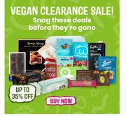 Vegan Clearance Sale - Up To 35% Off!