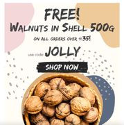 Free Walnuts in Shell 500g with CODE at HEALTHY SUPPLIES