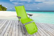 Sun Lounger Recliner Chair - Black, Blue, Lime or Red