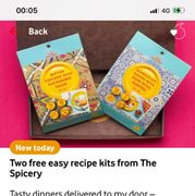 Two Free Recipie Kits Just Pay P&p