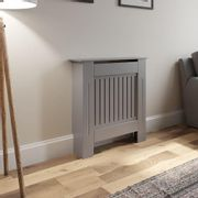 Radiator Cover X Small - Grey Vertical Style