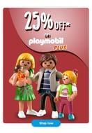 25% off on Playmobil plus