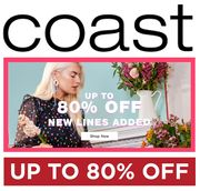 COAST SALE - NEW LINES ADDED - up to 80% OFF + EXTRA 15% OFF