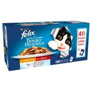 Felix as Good as It Looks Doubly Delicious Cat Food Meaty 40x100g