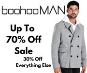 boohooMAN Up to 70% off Sale + 30% off Everything Else & 99p NDD