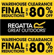 REGATTA WAREHOUSE CLEARANCE   up to 80% off   ENDS MONDAY!