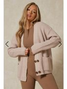 Knitted Oversized Double Button Cardigan