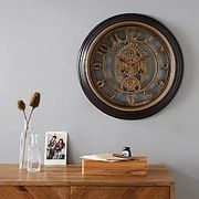 Mechanism 50cm Wall Clock Brass CLICK and COLLECT or £3.95 DELIVERY