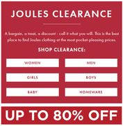 JOULES CLEARANCE | up to 80% OFF