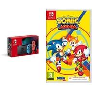 Nintendo Switch Neon Console + Sonic Mania (Code in Box)