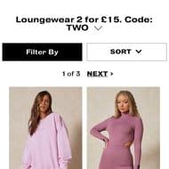 2 for £15 Lounge Wear