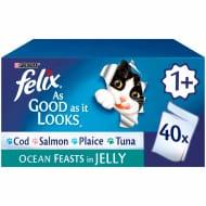 Felix as Good as It Looks Adult Cat Food Chunks in Jelly Ocean Feast 40x100g