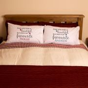Personalised Mr & Mrs Love Story Pillowcases