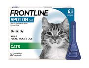 FRONTLINE Spot on Flea & Tick Treatment for Cats - 6 Pipettes