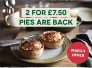 Free-Range British Pies 2 for £7.50 - Minimum Order Spend £39.50
