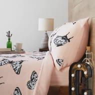 Cozee Home Ink Splash Butterfly Print Fleece 4 Piece Duvet Set