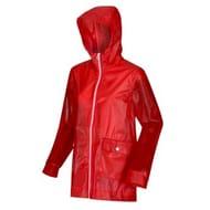 Womens Takala Rubberised Waterproof Raincoat Jacket Red Sky