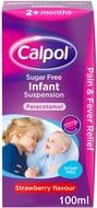 Calpol Sugar Free Infant Suspension Medication - 100ml
