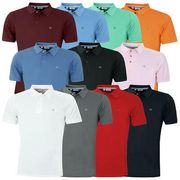 Calvin Klein Mens 2021 Campus 3 Button Ribbed Collar Golf Polo Shirt