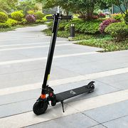 HOMCOM Electric Scooter Folding Adjustable Speed W/ Light Black