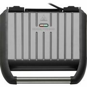 George Foreman 5 Portion Steel Grill Health Grill Gun Metal FREE DELIVERY