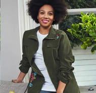 Avon Floral Khaki Jacket Size 6/8