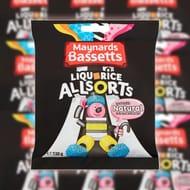 12 X Maynards Bassetts Liquorice Allsorts 130g Bags