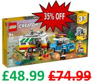 £26 OFF + Free Delivery - LEGO CREATOR 3-in-1 Caravan Family Holiday