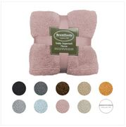 Teddy Fleece Bear Blanket Large Throw