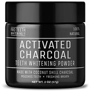 Activated Charcoal Teeth Whitening Powder - 100% Natural Vegan Friendly