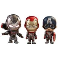 Avengers: Endgame: Cosbaby Figures: Captain America, Iron Man & War Machine