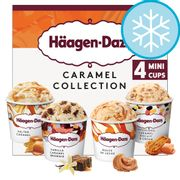 Haagen-Dazs Caramel Mini Cups 4 X 95Ml all flavours (Clubcard Price)