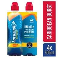 Lucozade Sport Caribbean Burst4 X 500ml