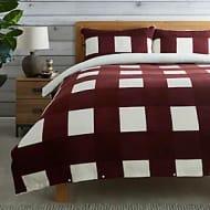 Fleece Sherpa Check Duvet Cover and Pillowcase Set