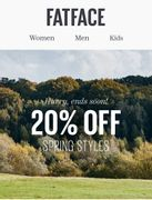 20% off Selected Spring Styles