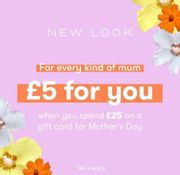 Free £5 Voucher for you with a £25 Spend on a Gift Card