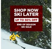 End Of Season Ski Sale Up To 50% Off